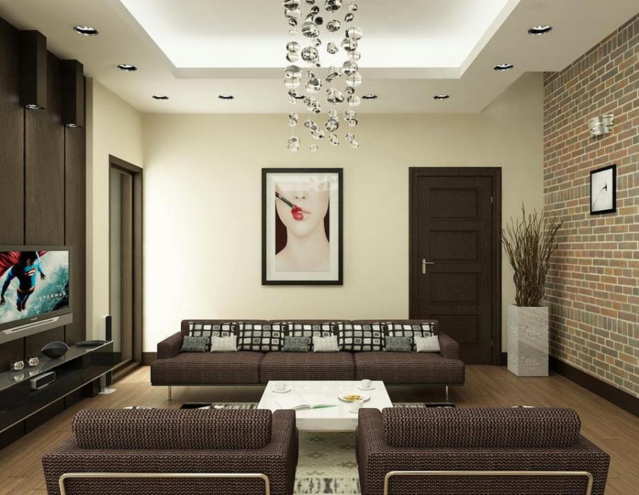 Dise o de interior de casa sala comedor y 3 recamaras - Diseno de interiores paredes ...