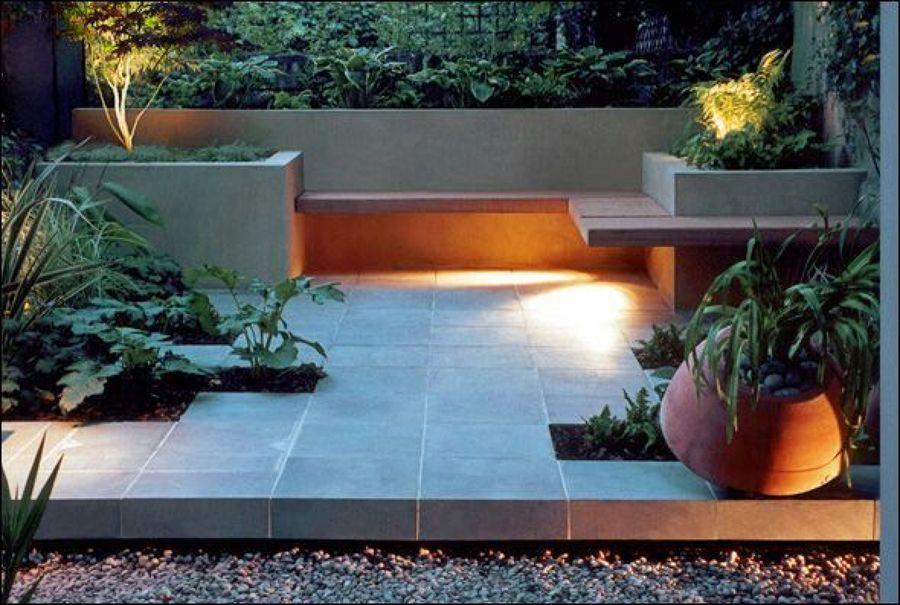 Elaborar un jard n con 3 bancas y dos jardineras base de for Armado de jardines