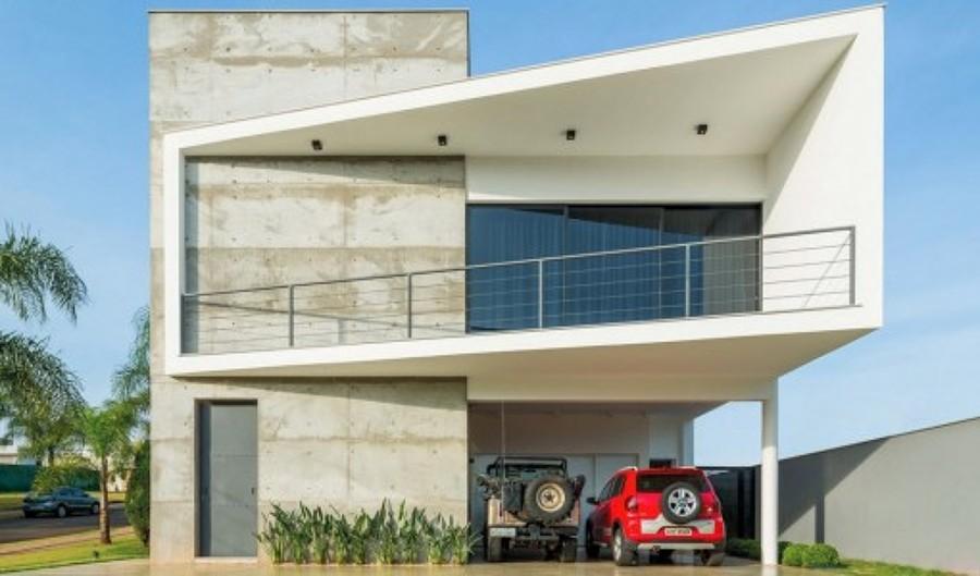 Construir casa habitaci n moderna en terreno de 400 m for Cuanto sale hacer una pileta de natacion