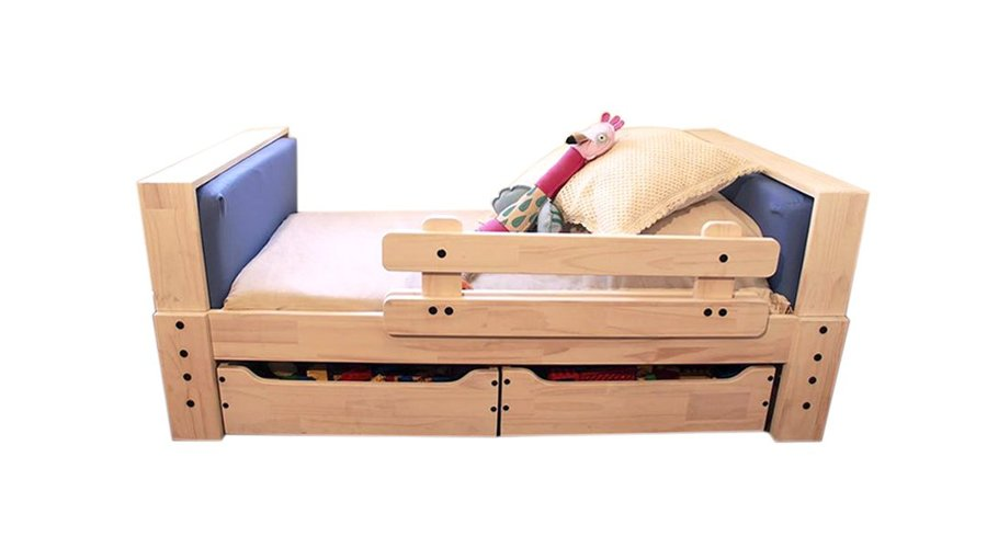 Hacer una cama de madera de 95 x 1 40 para ni os for Camas de 1 20