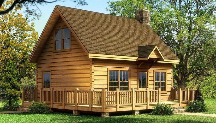 Construccion De Baño En Planta Alta:Precio de Construir cabaña de madera planta alta