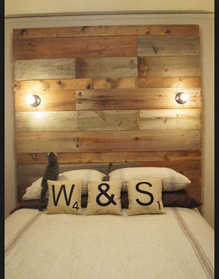 Como hacer una cabecera parte 1 cabecera de cama individual madera tarima sustentable como - Hacer una cama de madera ...