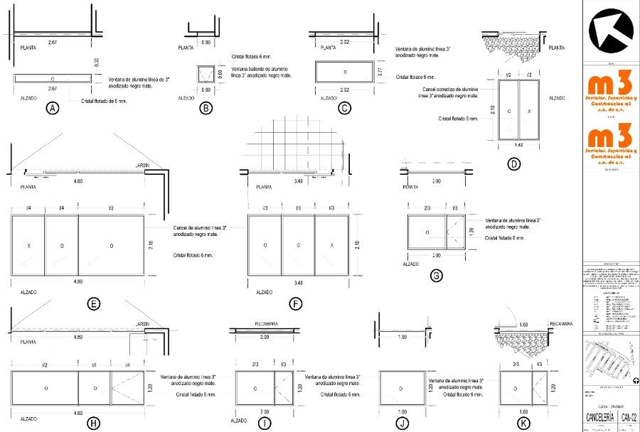 Medidas Baño Casa Habitacion:Cotización de canceles y ventanas de aluminio para casa habitación