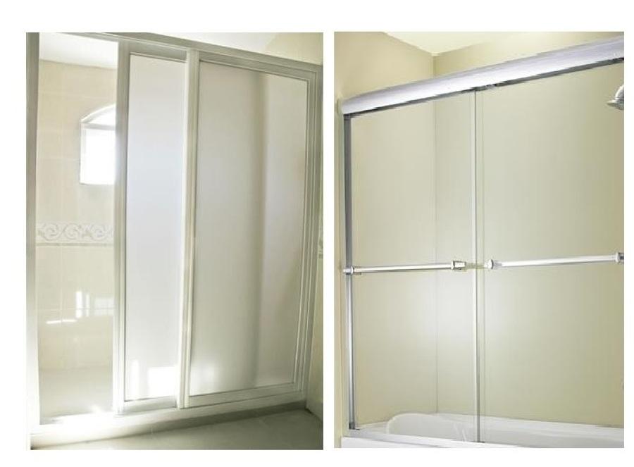 Puertas De Baño Acrilico:Cancel en acrílico blanco-opaco para baño – Puerta Verona