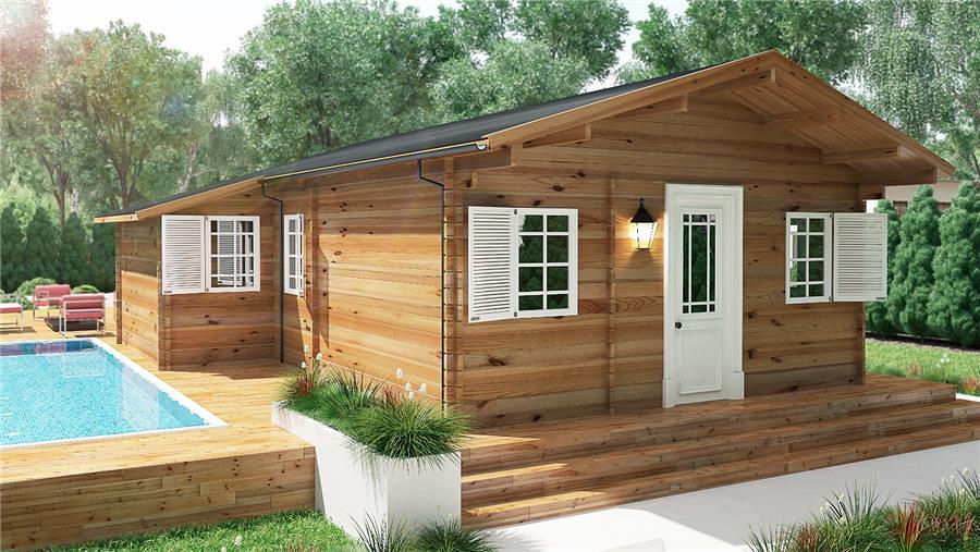 Construccion de casa prefabricada loma linda puebla - Bungalow de madera ...