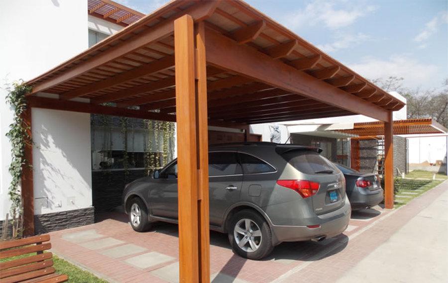 Terraza techada de madera en jard n posterior 6 x 4 aprox - Terrazas de madera precios ...