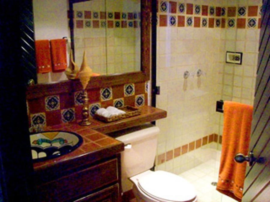 Baño Estilo Mexicano:Elaboración de cabaña para fines de semana 2 recamaras 2 baños