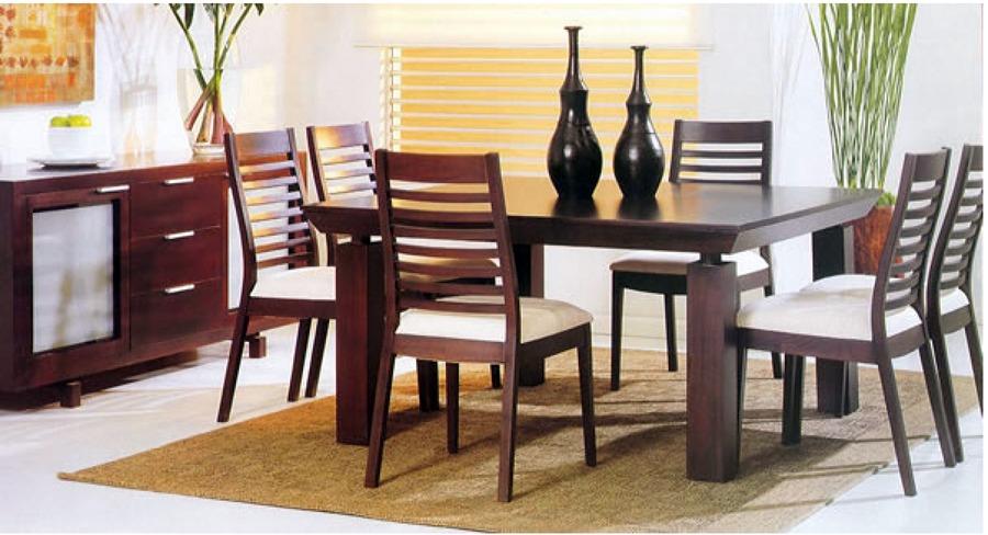 Muebles de madera dise o moderno y para espacios for Diseno sala comedor espacios pequenos
