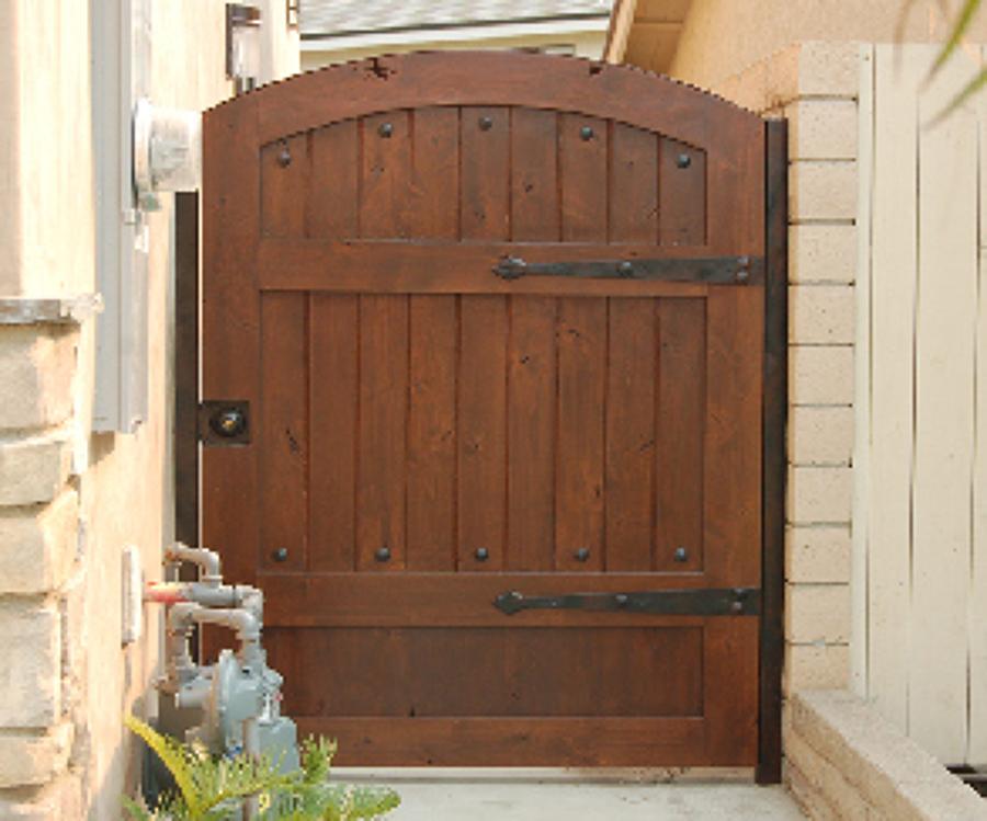 Puerta de madera para jard n de 97 cm x 2 00 mts - Como hacer una puerta rustica ...