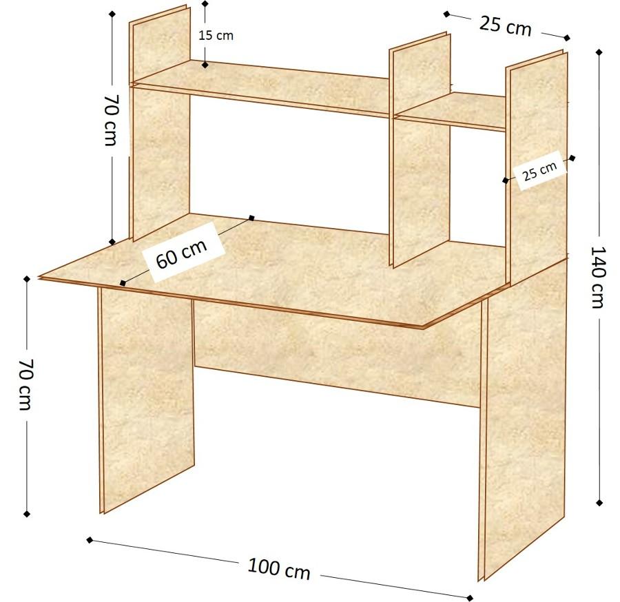 Precio de escritorio para computadora - Como hacer una mesa escritorio ...