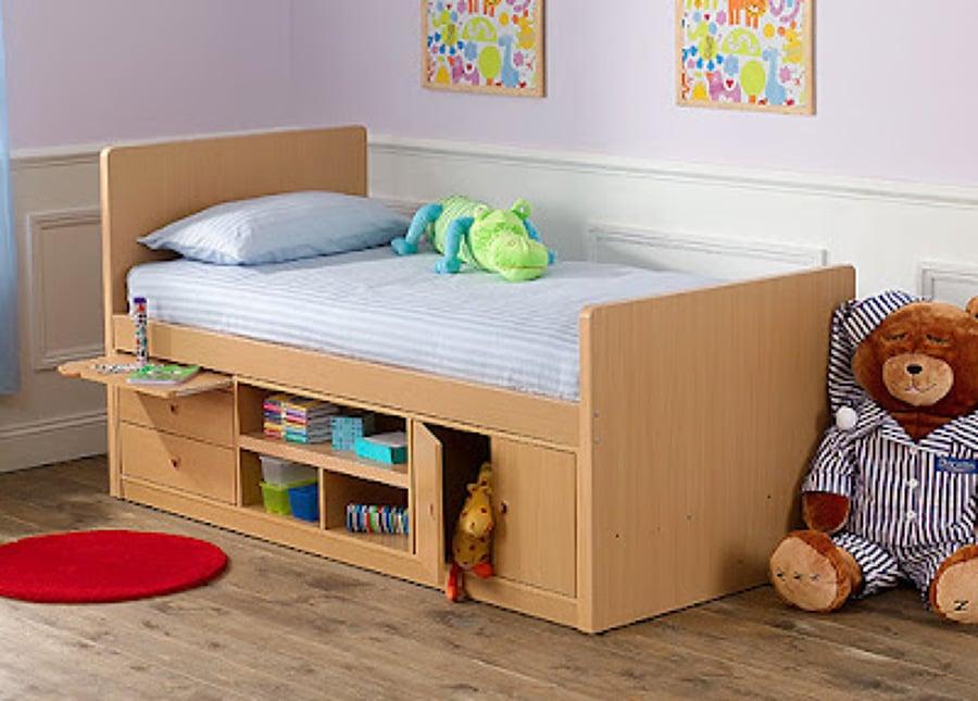 Hacer una cama de madera de 95 x 1 40 para ni os - Camas a medida para ninos ...