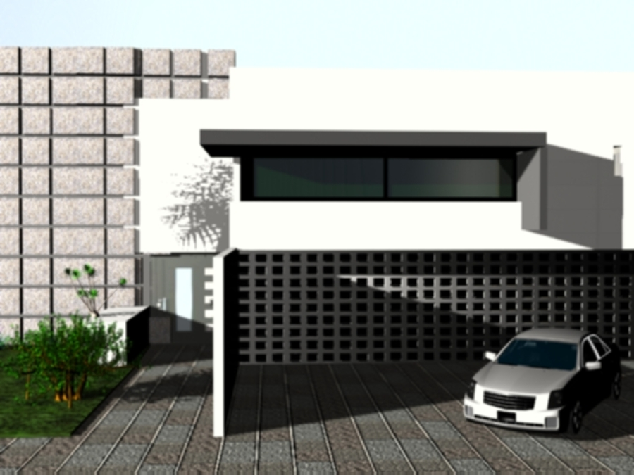 Fachada con tablacemento para recubrimiento de muros exteriores quer taro quer taro - Recubrimientos para fachadas ...