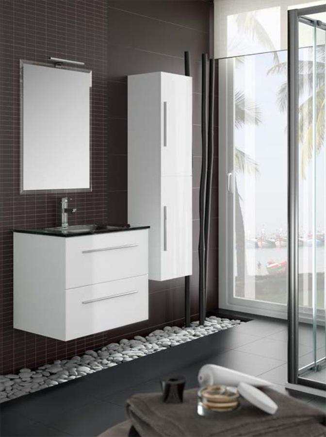Gabinetes Para Baño De Madera:Gabinete para baño brillante de 90 cm x 40 cm – Paseo de Cumbres