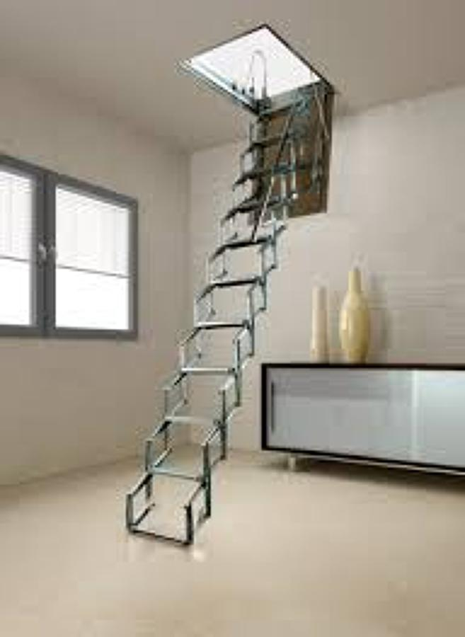 Escalera para tico metal 1 mtr por 60 cm coacalco de for Escalera electricista madera