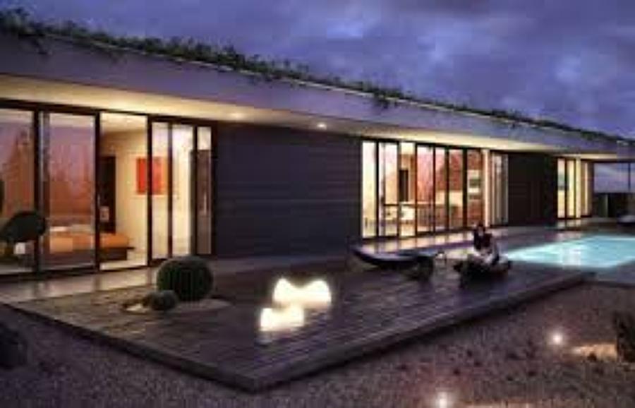 Construir casa prefabricada con 3 recamaras en un terreno for Casa minimalista 300m2