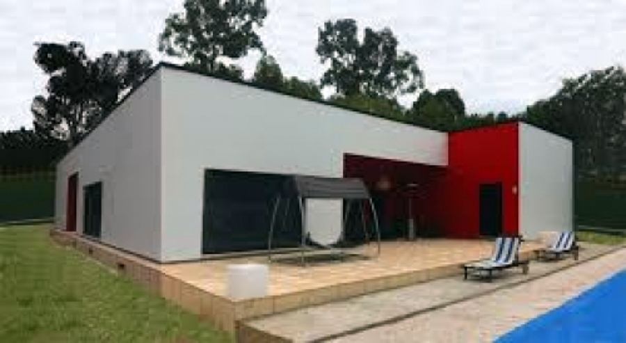 Casa estilo minimalista prefabricada y o construcci n for Casa minimalista una planta