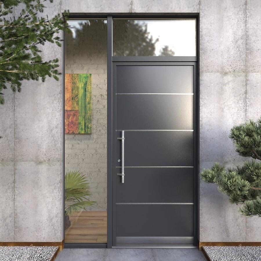 Cambio de puerta de entrada en aluminio linea espa ola en for Ancho puerta entrada casa
