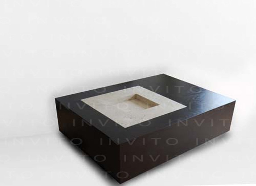 Remodelar depto 1 base de madera en color chocolate - Mesas de centro minimalistas ...
