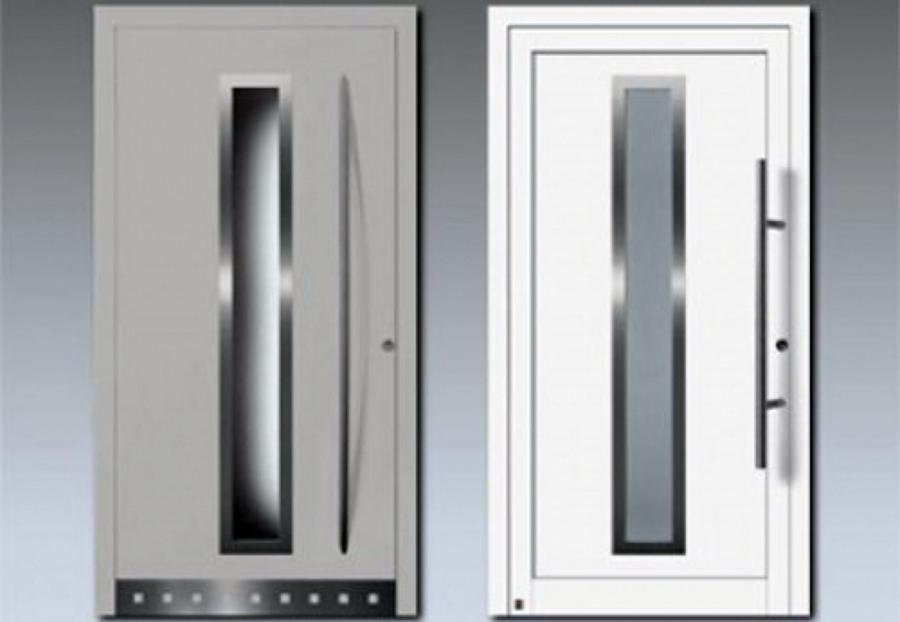 Modelos de puertas de aluminio imagui for Puerta zaguan aluminio