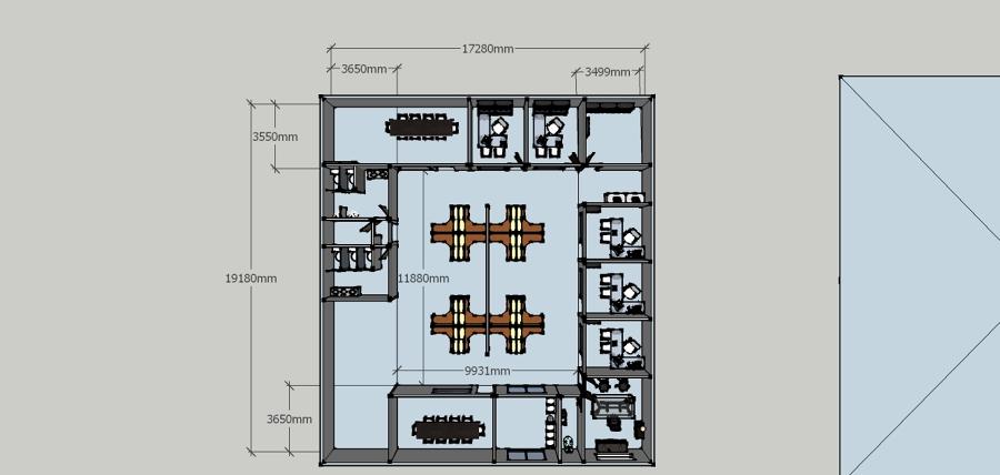 Construcci n de oficinas administrativas san pedrito los for Construccion de oficinas