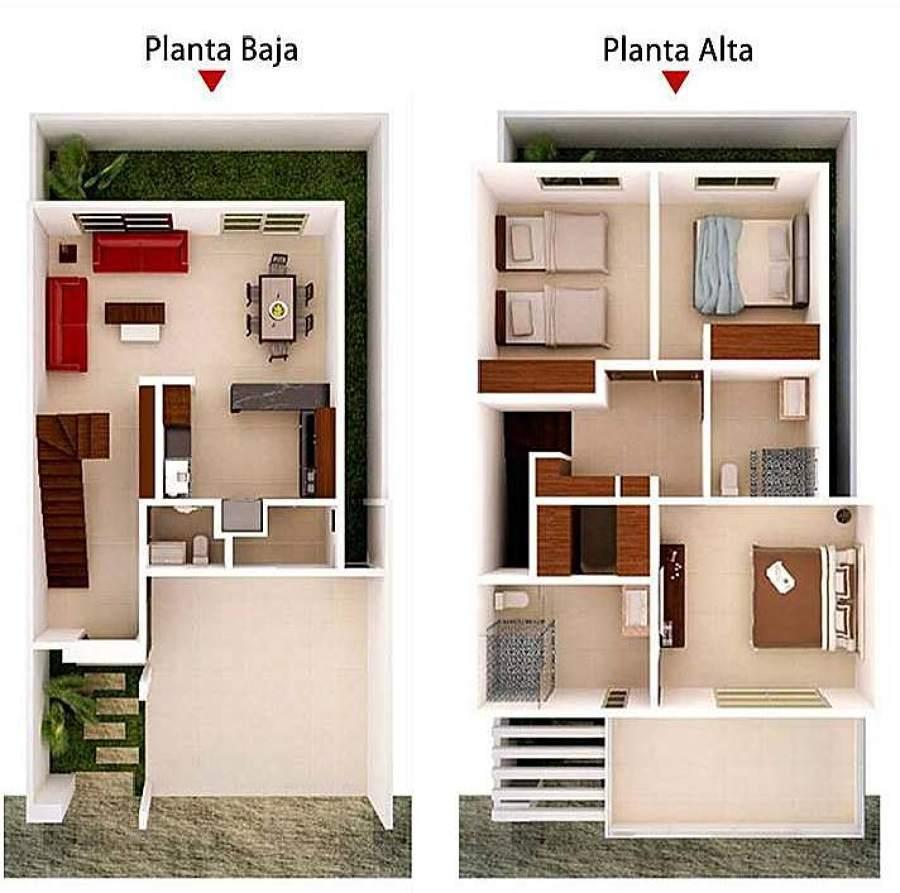 Construir casa de aprox 200 m2 centro tabasco for Planos de casas 200m2
