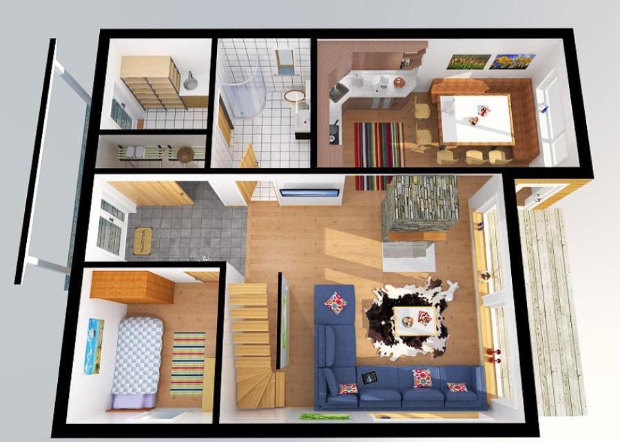 Planos para construir una casa de 80 mt2 cuautitl n for Planos gratis para construir casas