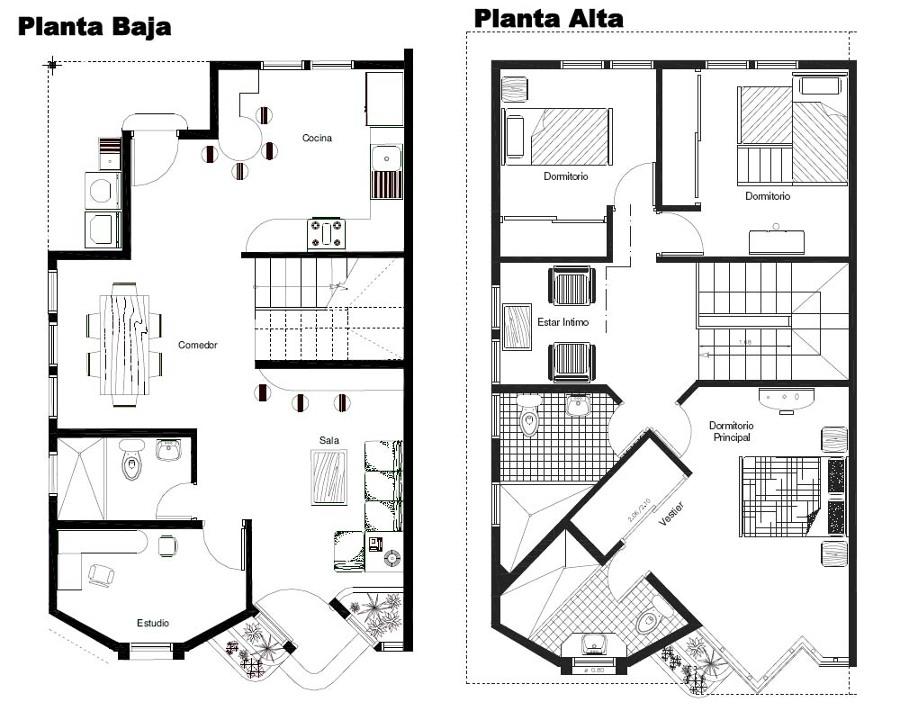 Proyecto y construcci n casa terreno de 200m2 durango - Proyectos de construccion de casas ...