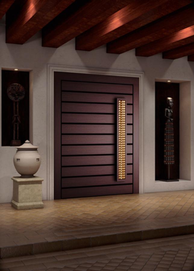 Proveer p uerta principal tepotzotl n estado de m xico for Puertas principales modernas en madera