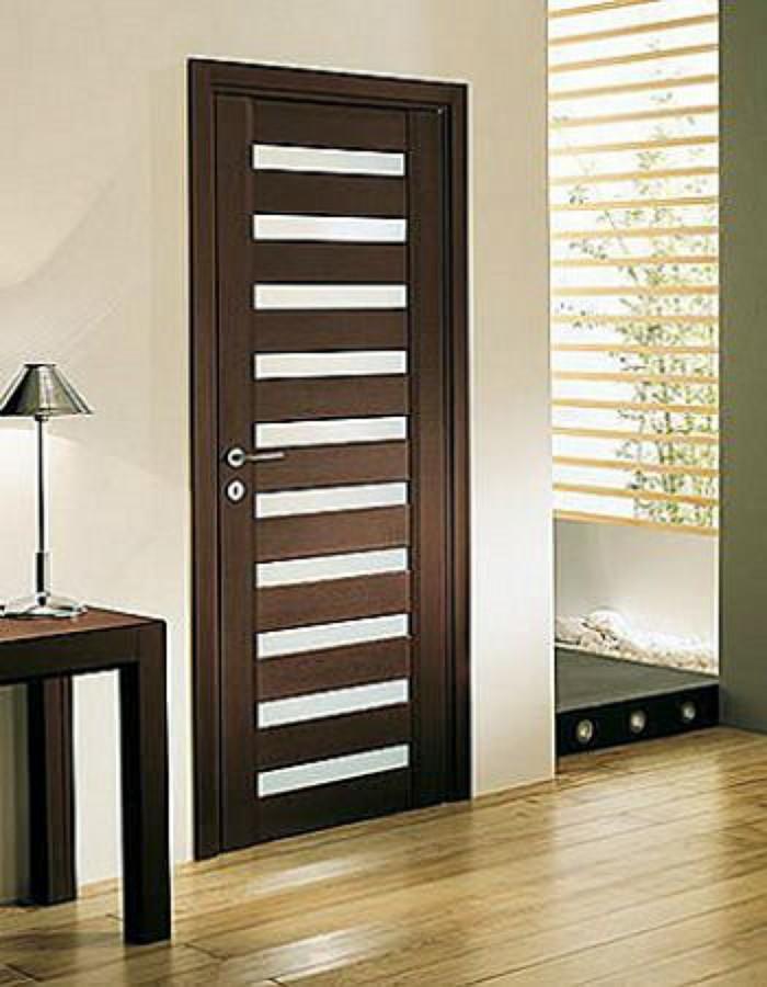 Fabricaci n de puertas de madera minimalistas coyoac n for Puertas interiores de madera con vidrio