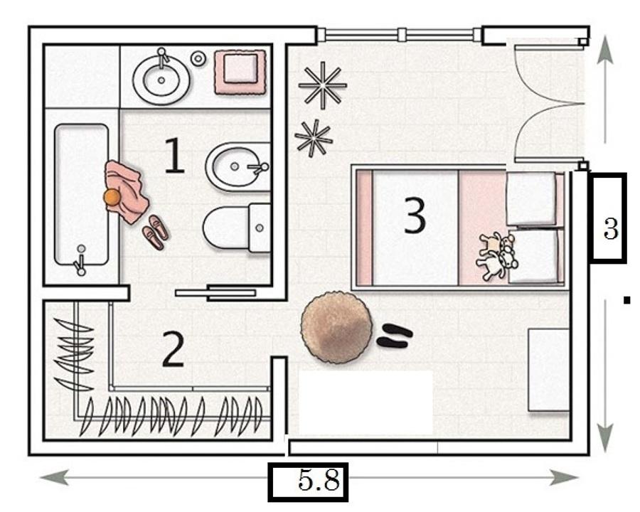 Construir una habitaci n con ba o de 3 x 4 terreno solo for Cuarto con walking closet