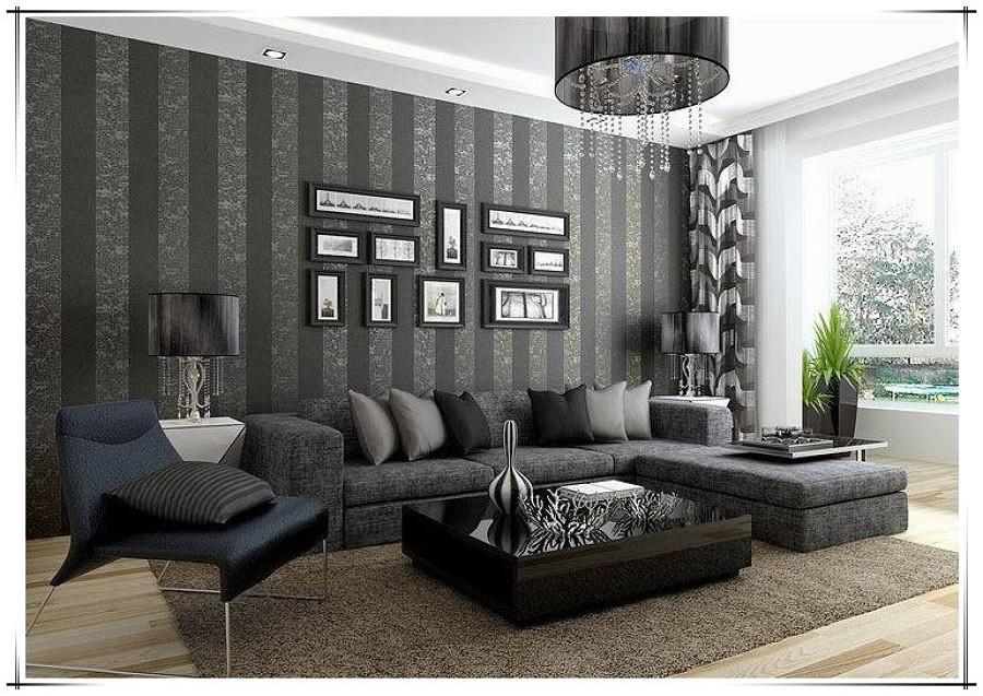 Trabajo de pintura y colocaci n de papel tapiz for Decoracion hogar gris