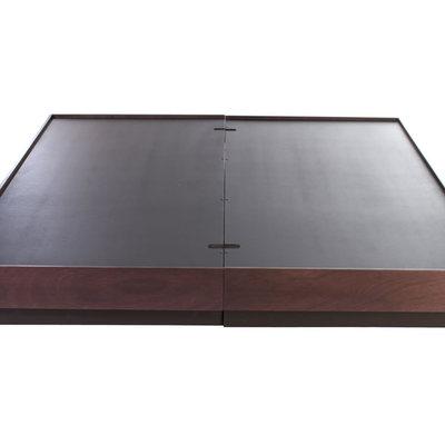 Hacer una base para cama color chocolate quer taro for Bases para cama king size df