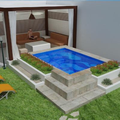 Construir piscina chukun de 2 por 5 metros de 1 50 de for Precio piscina pequena obra