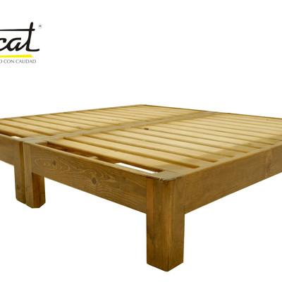 Hacer una base para cama color chocolate quer taro for Como hacer una base de cama