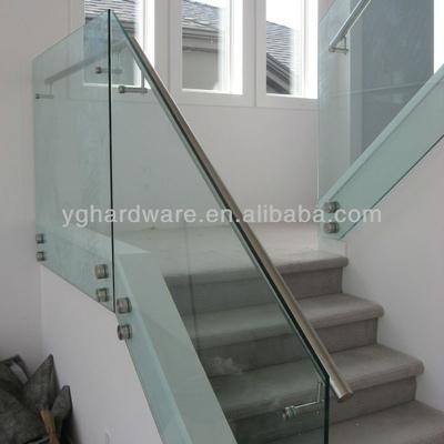 Barandal de cristal templado para escalera quer taro for Cristal templado queretaro