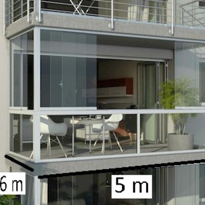 Cerrar balc n largo 4 metros por 230 de alto aprox - Cerrar balcon ...
