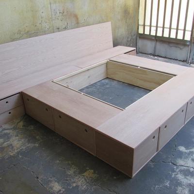 Bases de cama de madera cama jaka wengu with bases de for Como hacer una base para cama individual