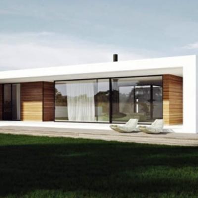 Casa estilo minimalista prefabricada y o construcci n for Modelos de casas de una sola planta