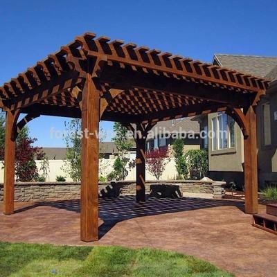 Construccion de pergola de madera para terraza santiago - Construccion de pergolas de madera ...
