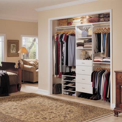Closet madera blanco con puertas banjidal iztapalapa for Valor closet en madera