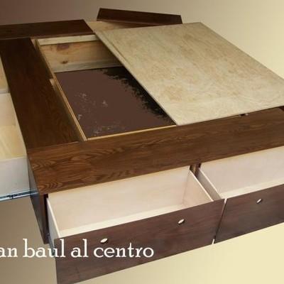 Crear un mueble base cama con amplio espacio de cajones for Base de madera para cama matrimonial con cajones