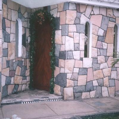 Construir las bardas laterales y hacer la fachada con for Fachadas de bardas para casas pequenas