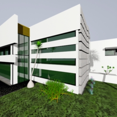 Fachada con tablacemento para recubrimiento de muros exteriores quer taro quer taro - Recubrimiento para fachadas ...