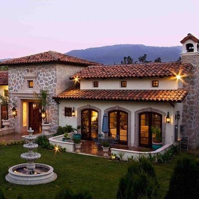 construcci n de casa tipo toscana o colonial mexicano