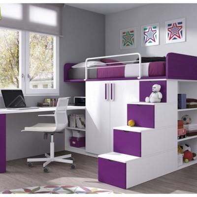 Hacer una cama con closet y escritorio rosario 1 sector for Closets estado de mexico