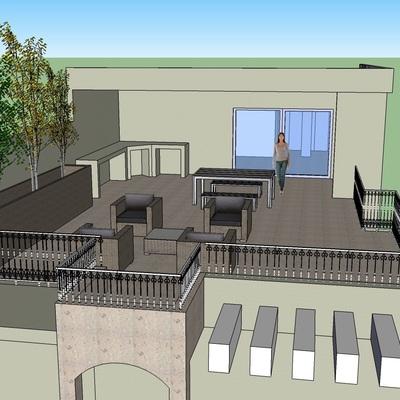 Habilitar cuarto y terraza con asador en azotea medida de - Losas para terrazas ...