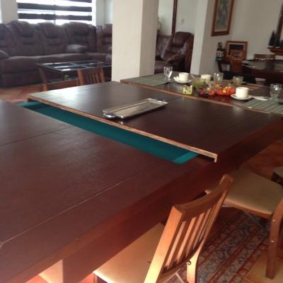 Mesa de comedor con una mesa de billar oculta - Real De Juriquilla ...