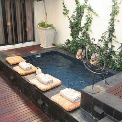 Construcci n de alberca peque a villa de alvarez colima Decoracion de patios pequenos con pileta