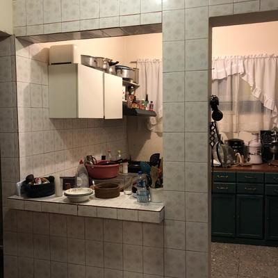 Cambiar Azulejo Y Construir Barra De Cocina De Cemento Pulido