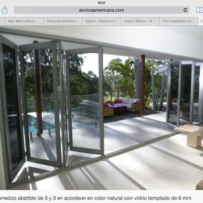 Construir e instalar puertas plegables de aluminio vidrio de 4 hojas tuxtla guti rrez chiapas - Puertas plegables de aluminio ...
